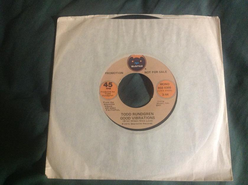 Todd Rundgren - Good Vibrations Promo 45 Mono/Stereo