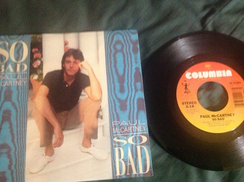 Paul  McCartney - So Bad 45 With Sleeve