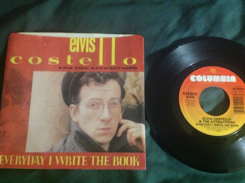 Elvis Costello - Everyday I Write The  Book 45 With Sleeve