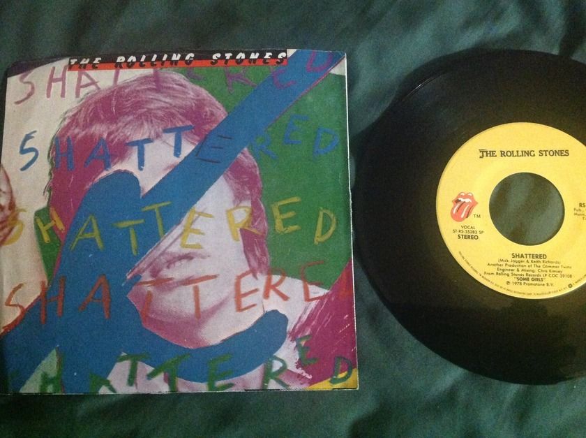 Rolling Stones - Shattered 45 With Sleeve NM