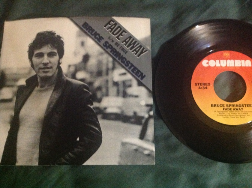 Bruce Springsteen - Fade Away/Be True 45 With Sleeve