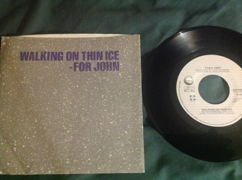 Yoko Ono - Walking On Thin Ice 45 With Sleeve