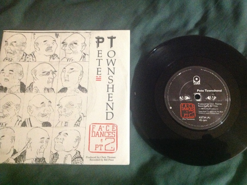 Pete Townshend - Face Dances Pt. 2 UK 45 With Sleeve
