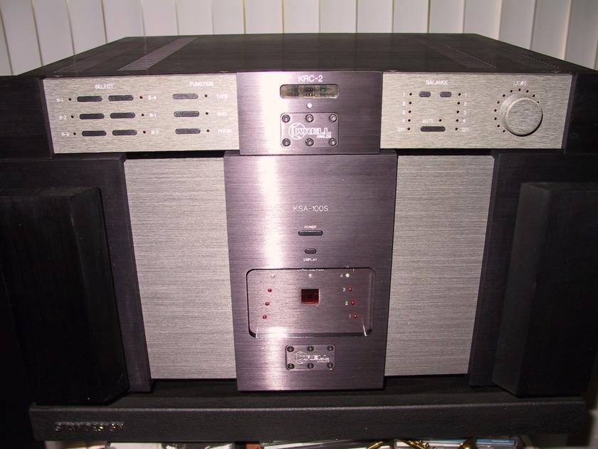 Krell  KSA-100S & KRC-2 Krell Power amp & pre amp pair for sale