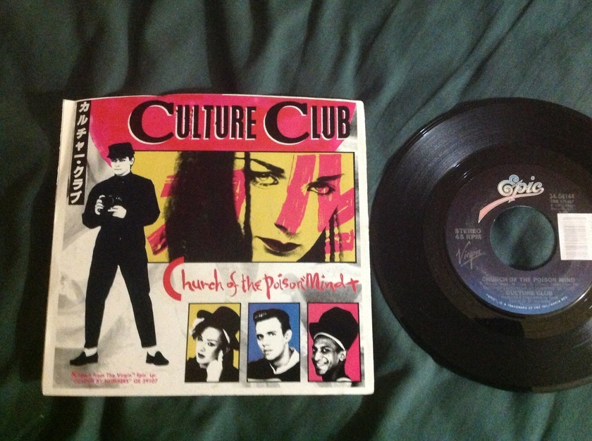 Culture Club - Church Of The Poison Mind 45 With Sleeve