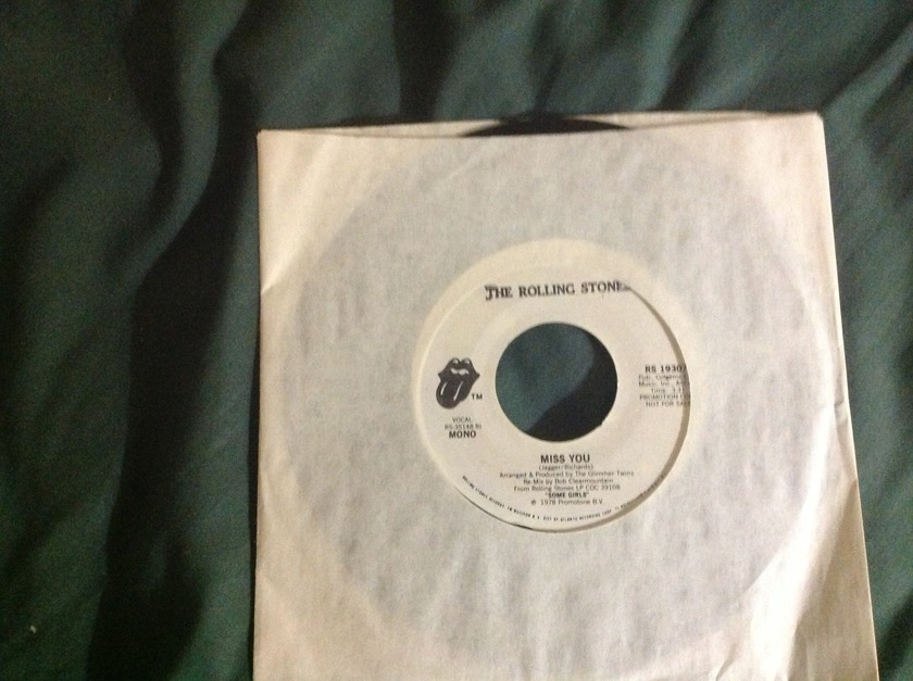Rolling Stones - Miss You 1978 Promo Mono/ Stereo 45 NM