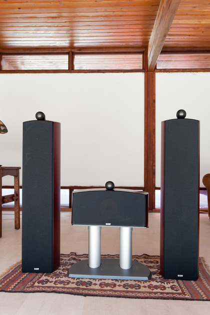 B&W Nautilus 804 & Nautilus HTM2 Dark Cherry Speakers