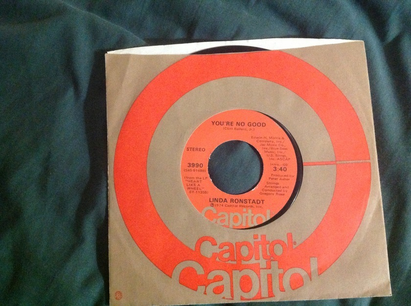 Linda Ronstadt - You're No Good 45 NM Capitol Label