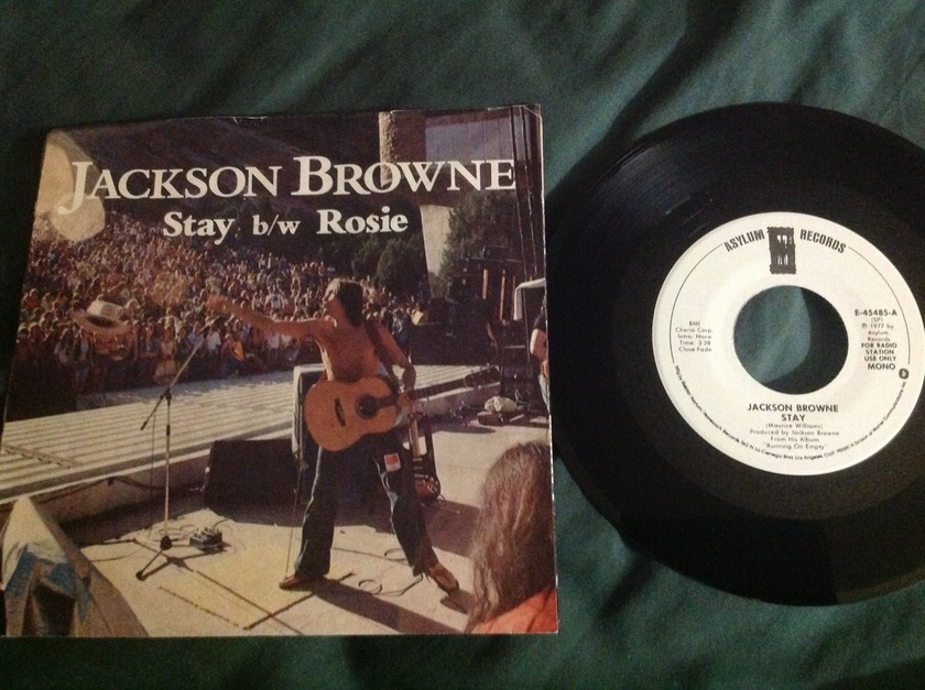Jackson Browne - Stay Promo 45 With Sleeve
