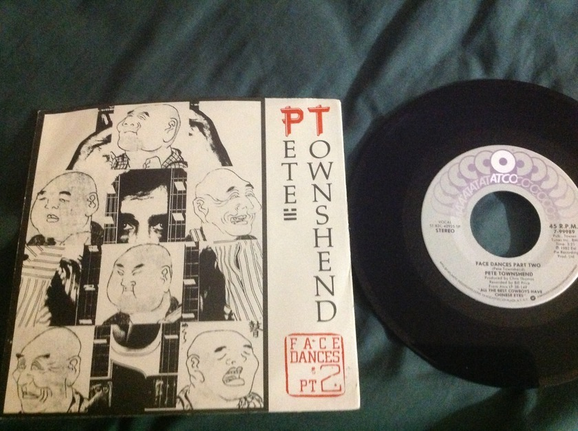 Pete Townshend - Face Dances Pt. 2 45 With Sleeve
