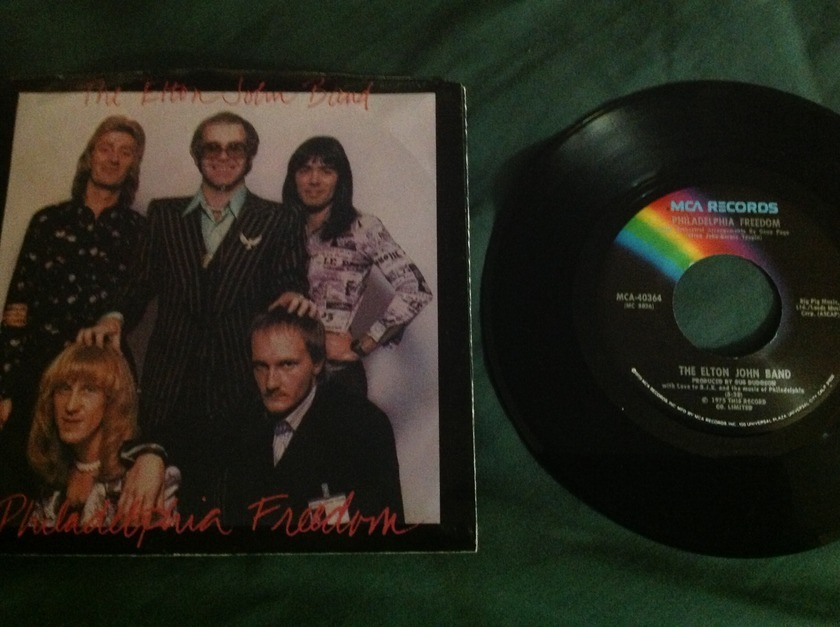The Elton John Band - Philadelphia Freedom 45 With Sleeve