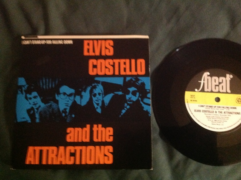 Elvis Costello - I Can't Stand Up For Falling Down F Best UK 45 With Sleeve