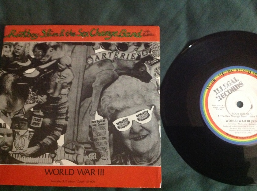 Root Boy Slim And The Sex Change Band - World War III 45 With Sleeve