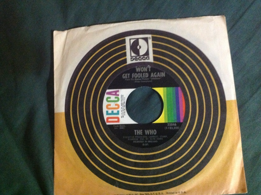 The Who - Won't Get Fooled Again Decca label 45 NM