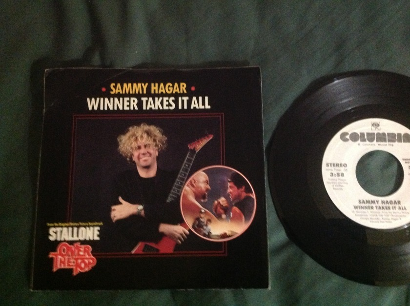Sammy Hagar - Winner Takes It All Promo 45 With Sleeve
