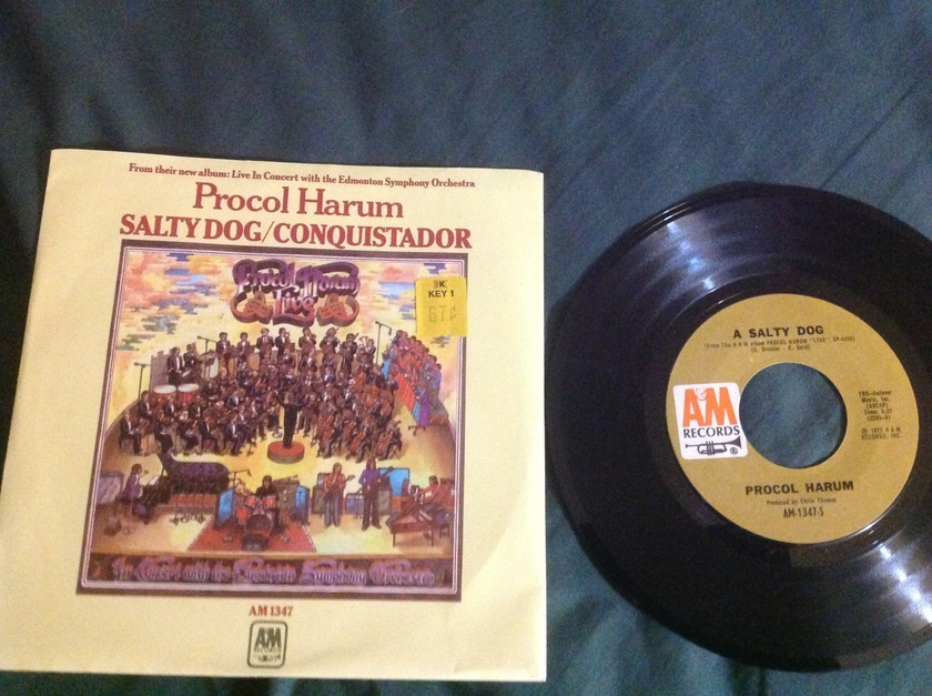 Procol Harum - A Salty Dog/Conquistador 45 With Sleeve