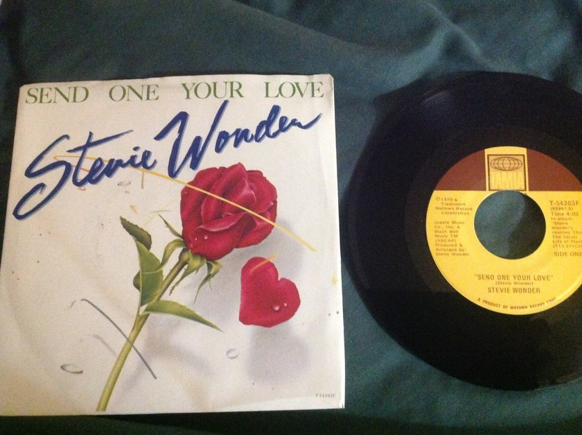 Stevie Wonder - Send One Your Love 45 With Sleeve