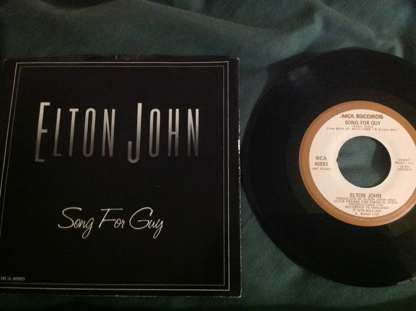 Elton John - Song For Guy 45 With Sleeve