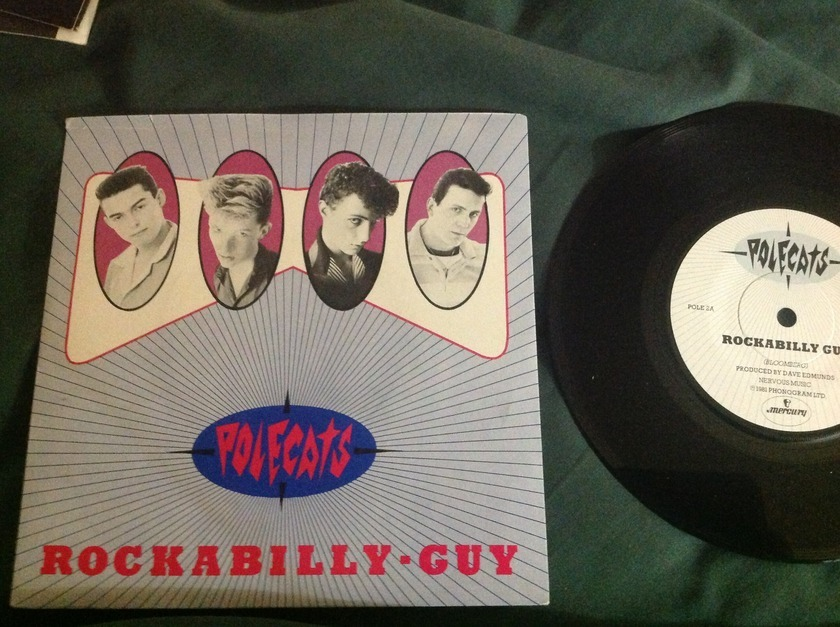Polecats - Rockabilly Guy 45 With Sleeve  Mercury Label UK
