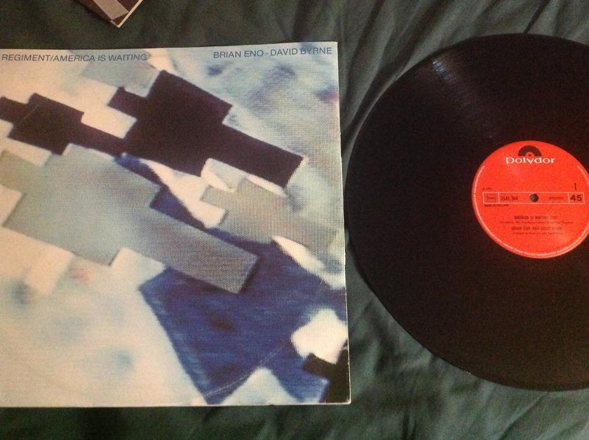 Brian Eno/David Byrne  - Regiment/America Is Waiting Polydor!UK 12 Inch 45RPM