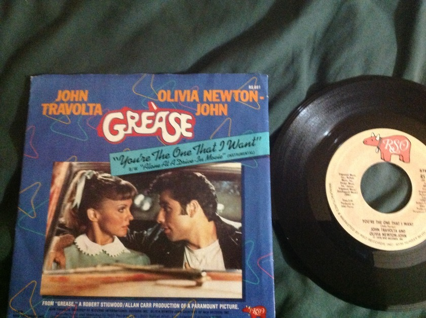 John Travolta Olivia Newton John - You're The One That I Want 45 With Sleeve,NM