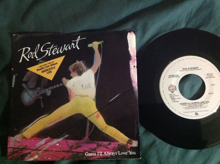 Rod Stewart - Guess I'll Always Love You Promo 45 With Sleeve Mono Stereo