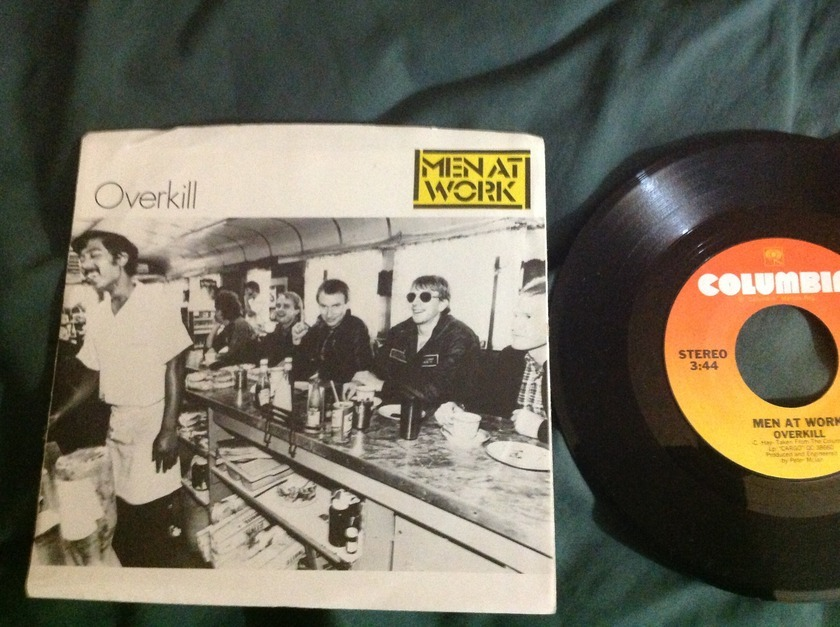 Men At  Work - Overkill 45 With Sleeve NM