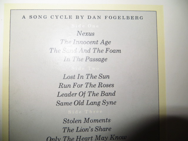 DAN FOGELBERG - THE INNOCENT AGE 2 record set