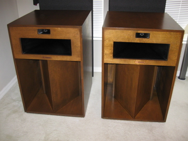 klipsch la scala speakers beautiful walnut finish full. Black Bedroom Furniture Sets. Home Design Ideas