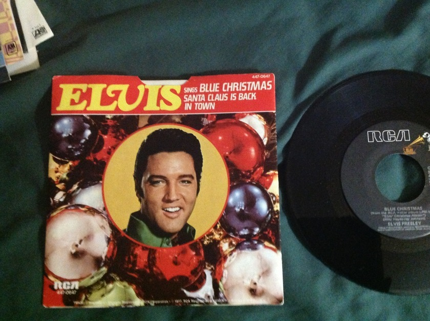 Elvis Presley - Blue Christmas 45 With Sleeve