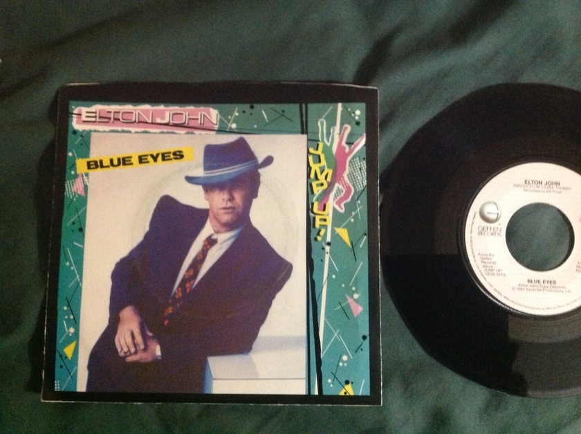 Elton John - Blue Eyes 45 With Sleeve