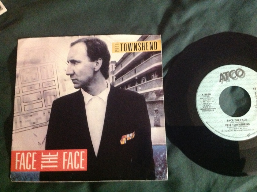 Pete Townshend - Face The Face Promo 45 With Sleeve