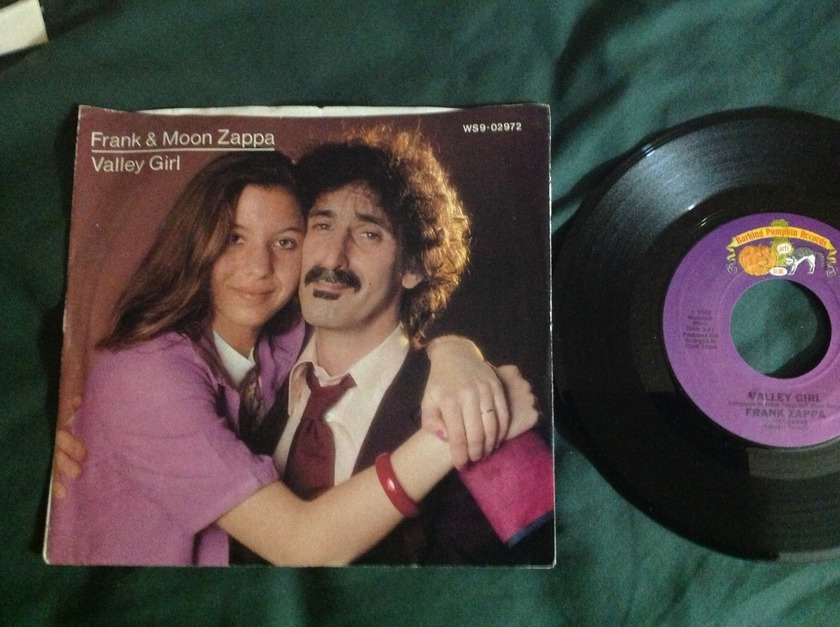 Frank and Moon Zappa - Valley Girl 45 With Sleeve