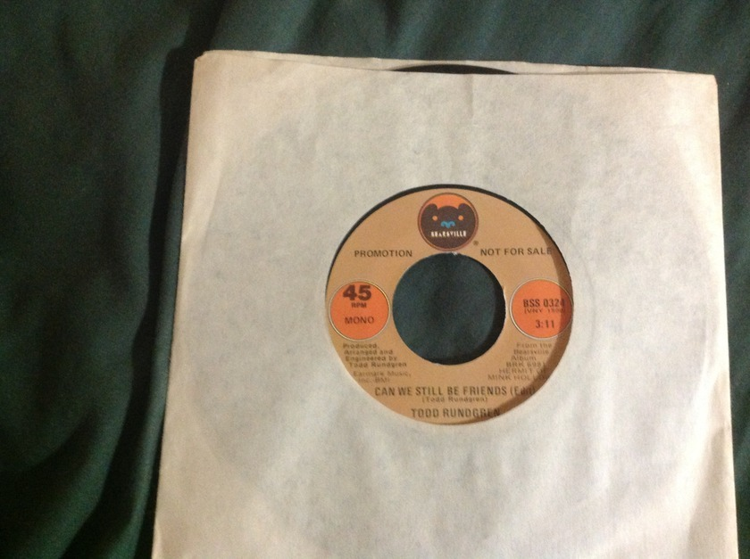 Todd Rundgren - Can We Still Be Friends(Edit) Promo Mono Stereo 45 NM