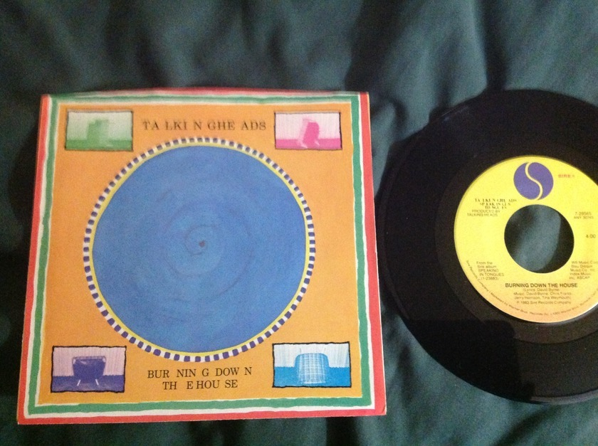 Talking Heads - Burning Down The House 45 With Sleeve