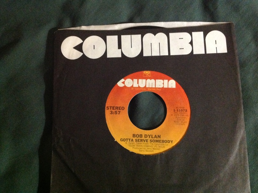 Bob Dylan - Gotta Serve Somebody/ Trouble In Mind 45 NM