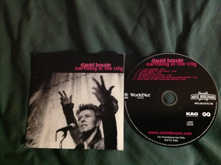 David Bowie - Earthling In The City Rare CD NM
