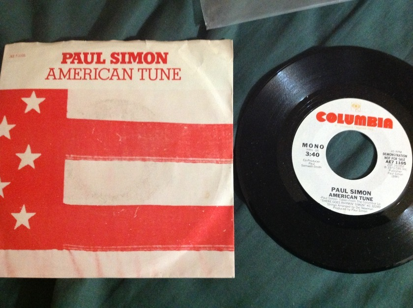 Paul Simon - American Tune Promo 45 With Sleeve