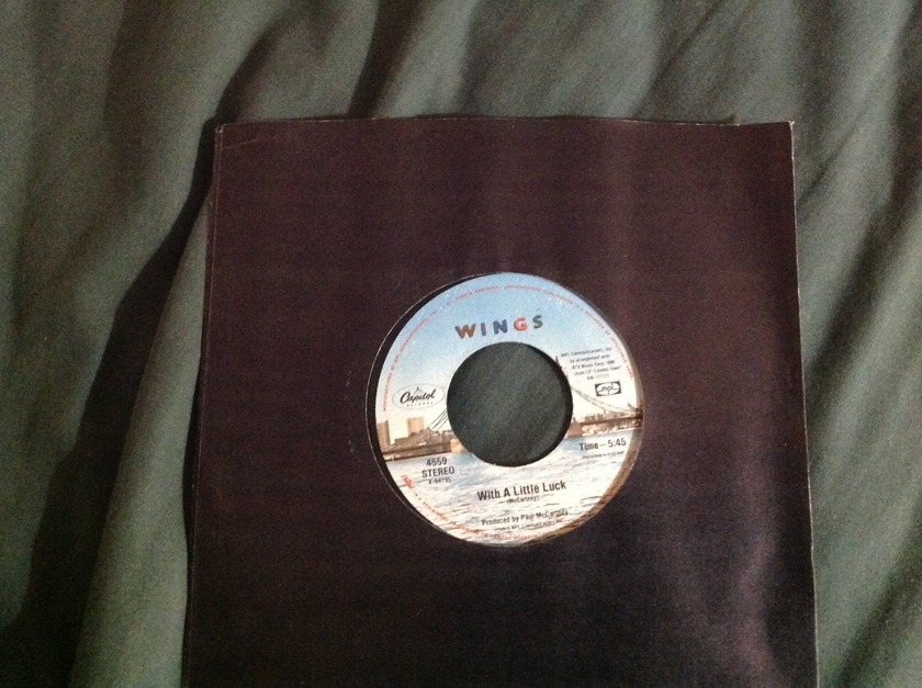 Wings - With A Little Luck 45 NM Capitol Label
