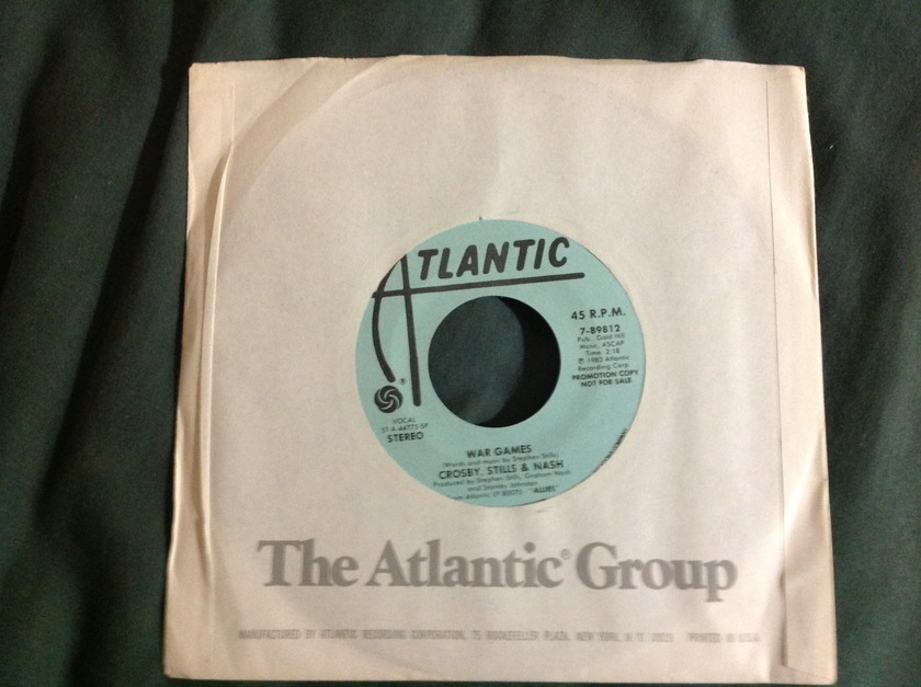 CSN - War Games Promo 45 NM Atlantic Records