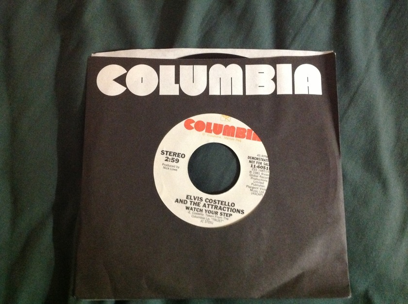 Elvis Costello & The Attractions - Watch Your Step Promo 45 NM