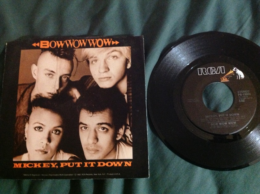 Bow Wow Wow - Mickey,Put It Down 45 With Sleeve