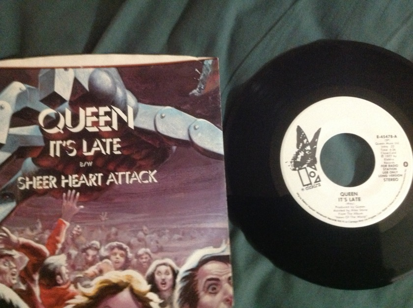 Queen - It's Late Promo 45 With Sleeve