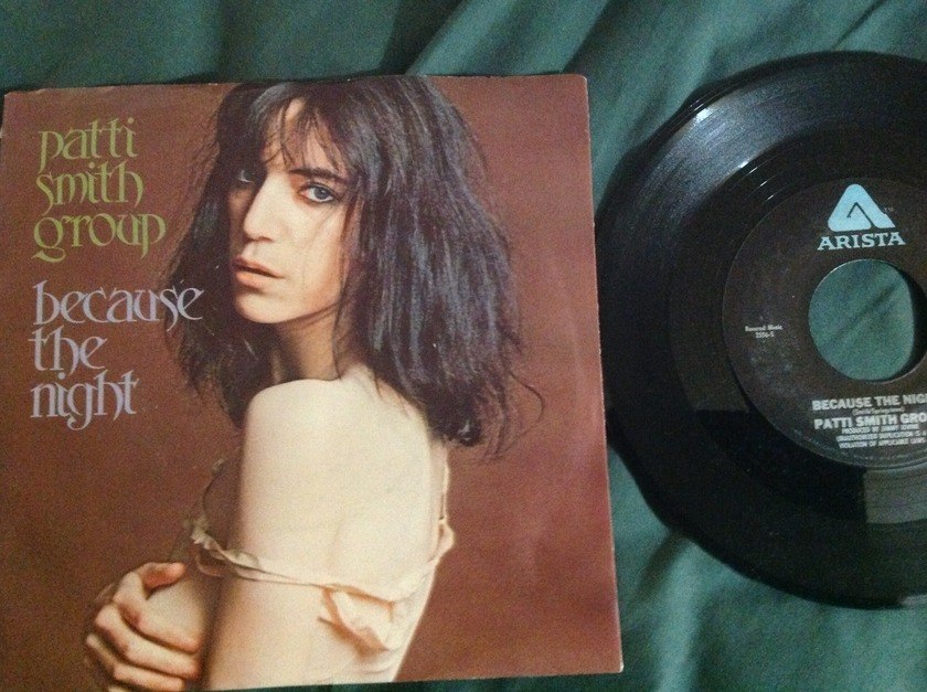Patti Smith Group - Because The Night 45 With Sleeve