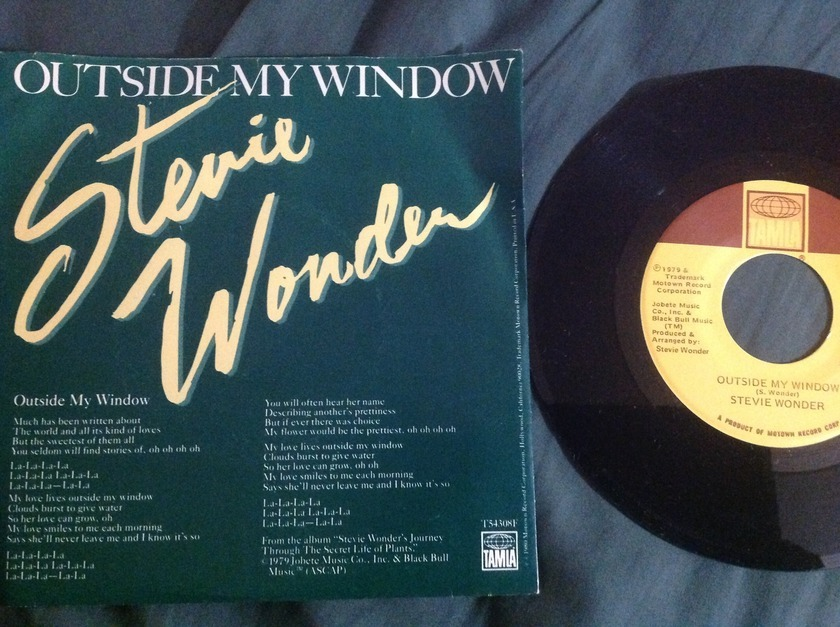 Stevie Wonder - Outside My Window 45 With Sleeve