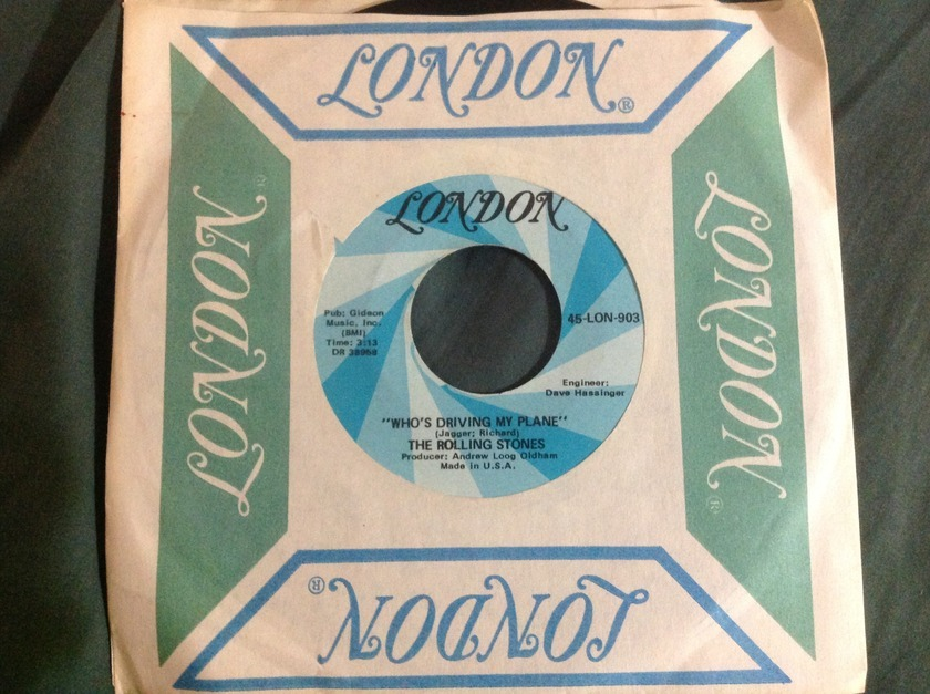 Rolling Stones - Have You Seen Your Mother Baby Standing In Shadow London label with Rare B Side