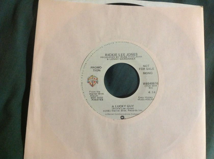 Rickie Lee Jones - A Lucky Guy Promo Mono Stereo 45