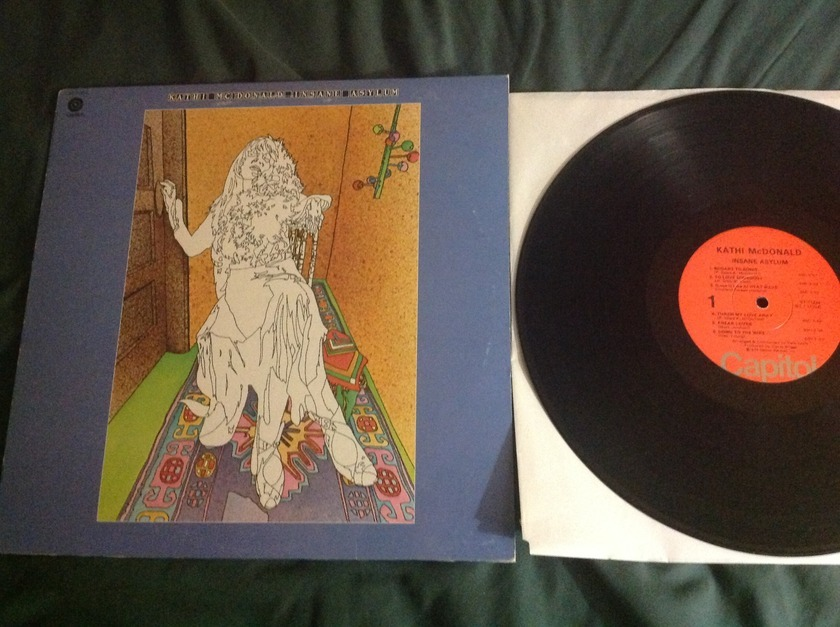 Kathi Macdonald - Insane Asylum LP NM Wally Etched Deadwax