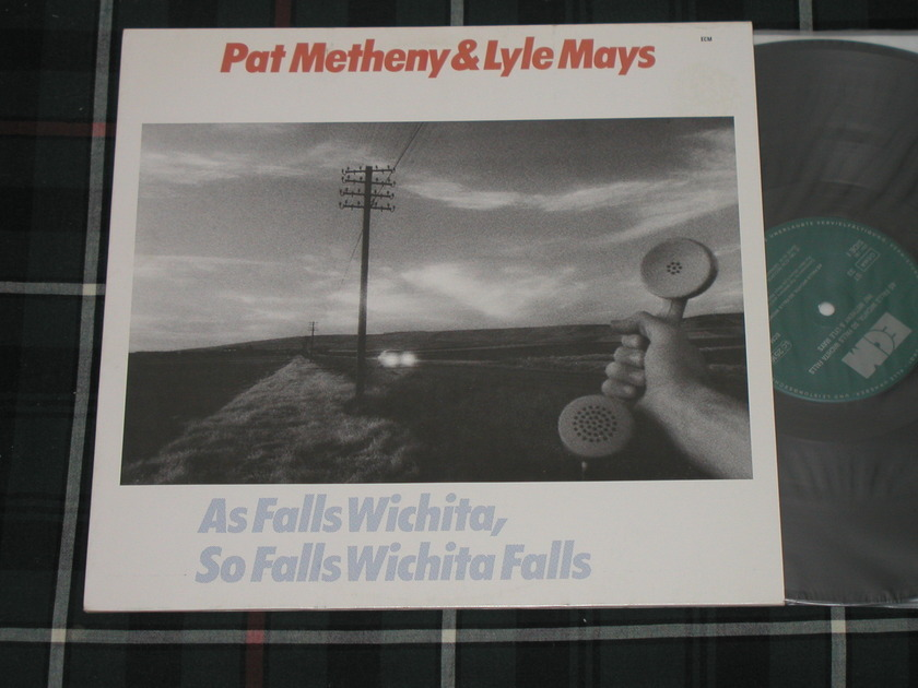 "Pat Metheny/Lyle Mays   ""As Falls Wichita, - So Falls Wichita Falls""    ECM (1190) 2301 190 GERMAN Import 1981"